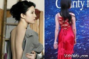 刘亦菲性感裸背照曝光   神仙姐姐注重平时保养