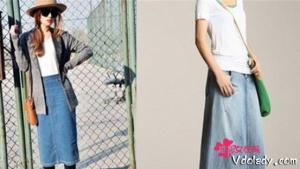 牛仔长裙如何搭配恰到好处   不同的款式穿出不一样的风格
