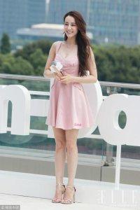 热巴带热蜜桃裙  众星热衷粉色长裙