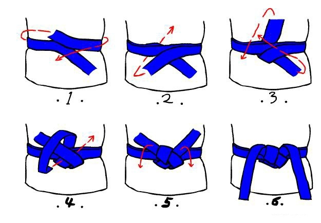 风衣腰带系法图解