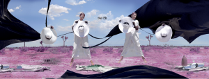 来自洛杉矶的3D艺术家田咖喱,用中华未来主义诠释帽饰品牌隋宜达SUIYIDA的2019 浪漫主义情怀